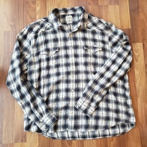 Lucky Brand Plaid Flannel Western Shirt